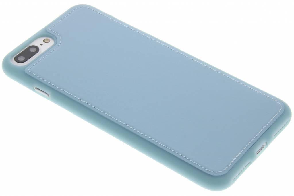 Blauw lederen TPU case voor de iPhone 8 Plus / 7 Plus