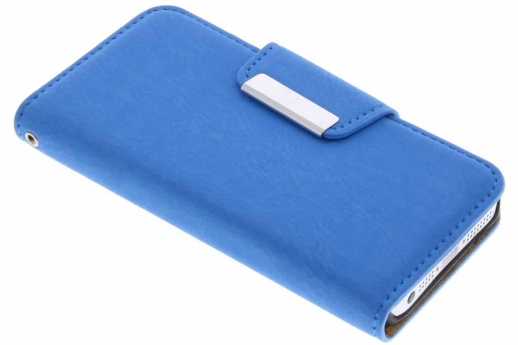 Blauwe premium suède booktype hoes voor de iPhone 6 / 6s