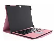 Roze booktype hoes met Bluetooth toetsenbord Surface 3