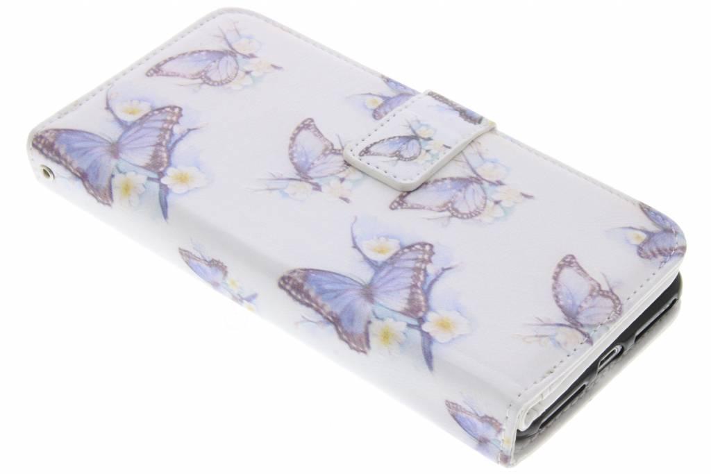 Vlinder design TPU portemonnee voor de iPhone 7 Plus