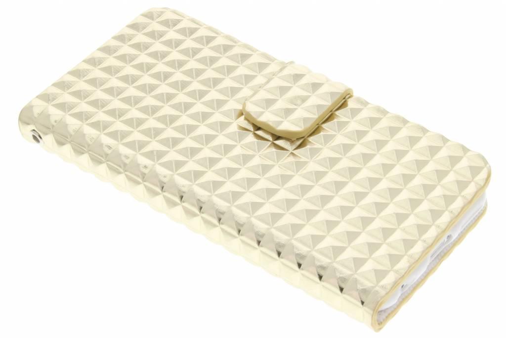 Gouden TPU studs booktype hoesje voor de iPhone 6 / 6s