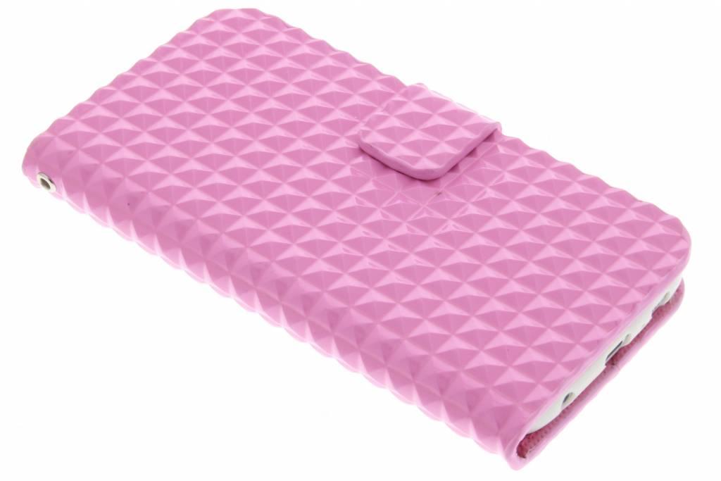 Roze TPU studs booktype hoes voor de Samsung Galaxy S6