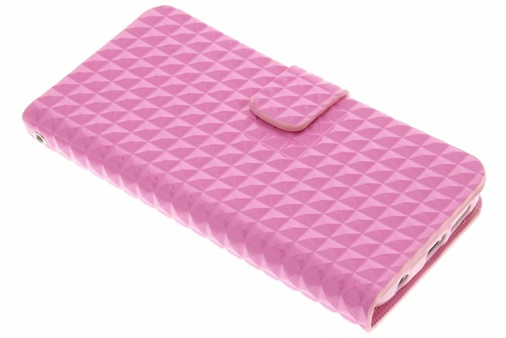 Roze TPU studs booktype voor de Samsung Galaxy S6 Edge
