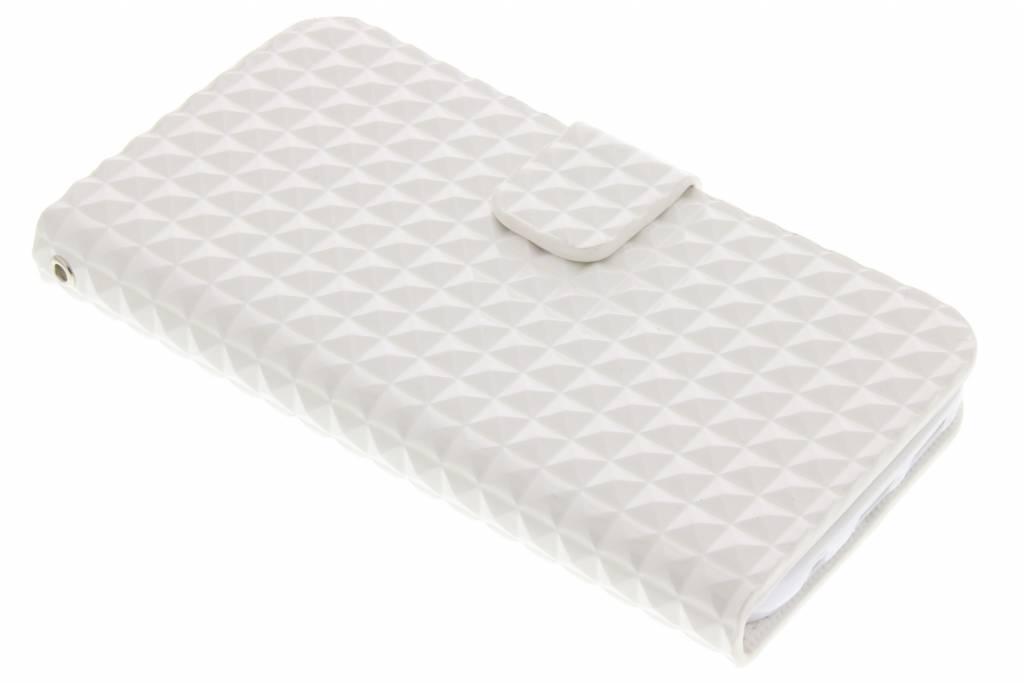 Witte TPU studs booktype hoesje voor de Samsung Galaxy S7