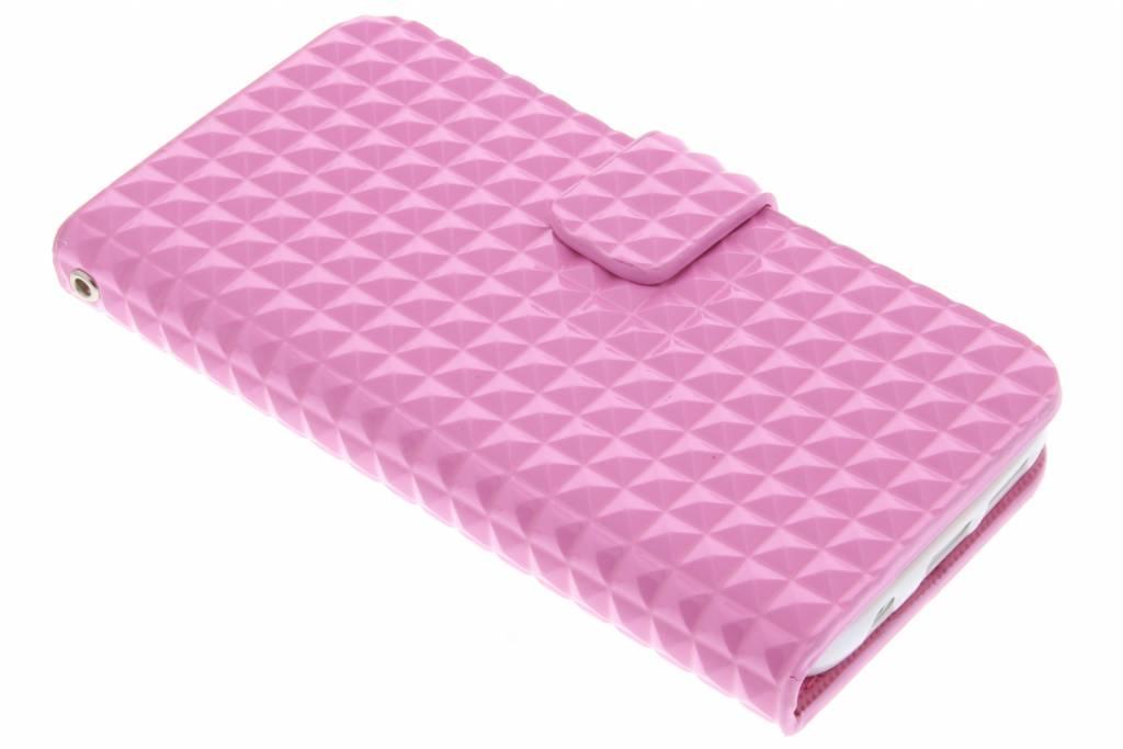 Roze TPU studs booktype hoesje voor de Samsung Galaxy S7