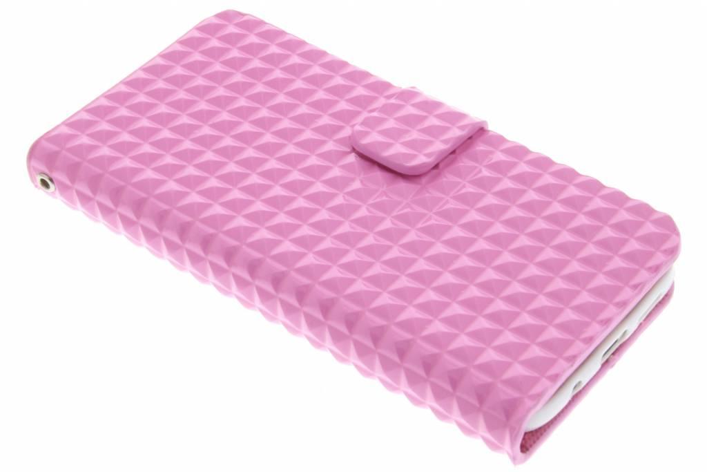 Roze TPU studs booktype hoesje voor de Samsung Galaxy S7 Edge