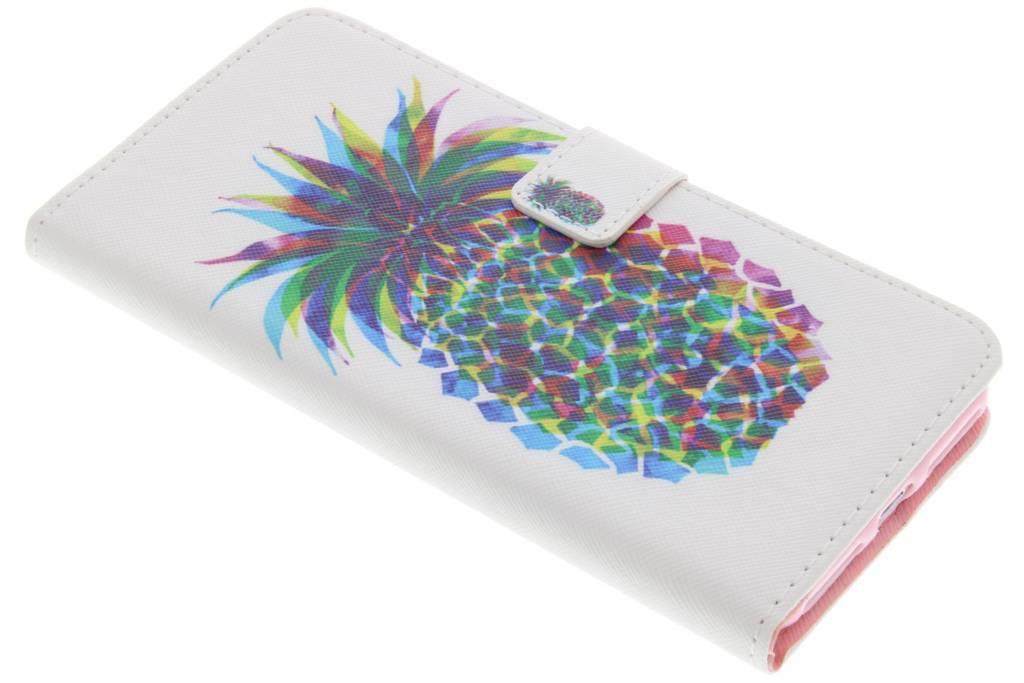 Ananas design TPU booktype hoes voor de iPhone 7 Plus