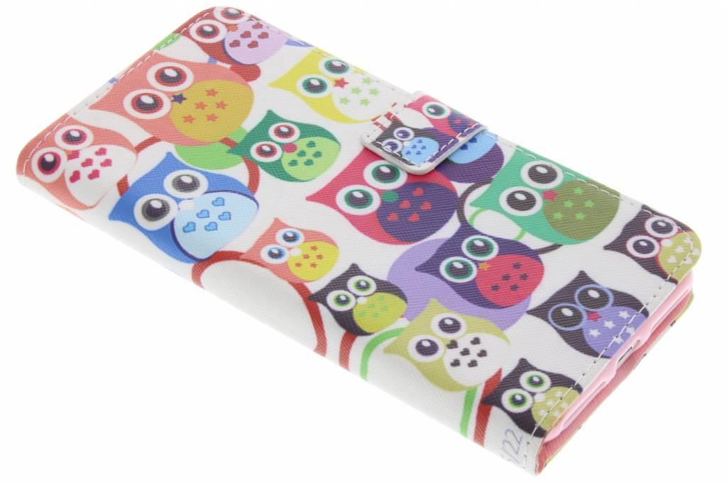 Uiltjes design TPU booktype hoes voor de iPhone 7 Plus