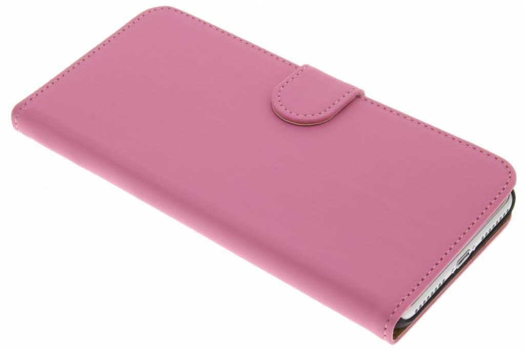 Roze effen booktype hoes voor de iPhone 8 Plus / 7 Plus
