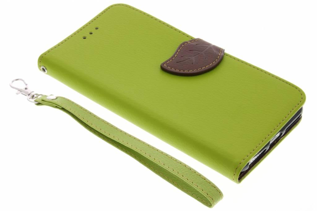 Groene Blad design TPU booktype hoes voor de iPhone 8 Plus / 7 Plus