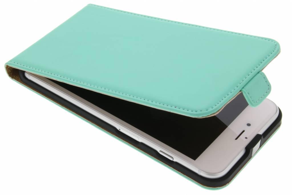 Selencia Luxe Flipcase voor de iPhone 8 Plus / 7 Plus - Mintgroen