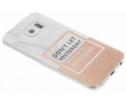 Quote design TPU hoesje Samsung Galaxy S6 Edge