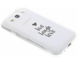 Quote design TPU hoesje Samsung Galaxy S3 / Neo