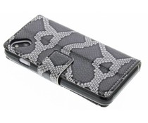 Glossy snake skin booktype Wiko Sunset 2
