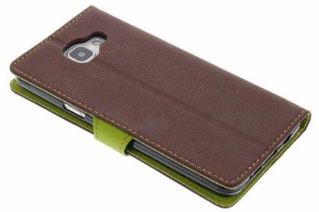Conception Feuille Noire Cas Booktype Tpu Pour Samsung Galaxy A5 (2016) WQi46FK