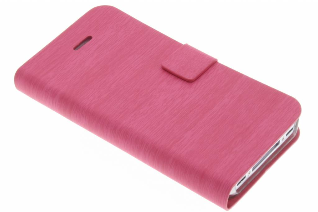 Fuchsia hout design booktype voor iPhone 4 / 4S