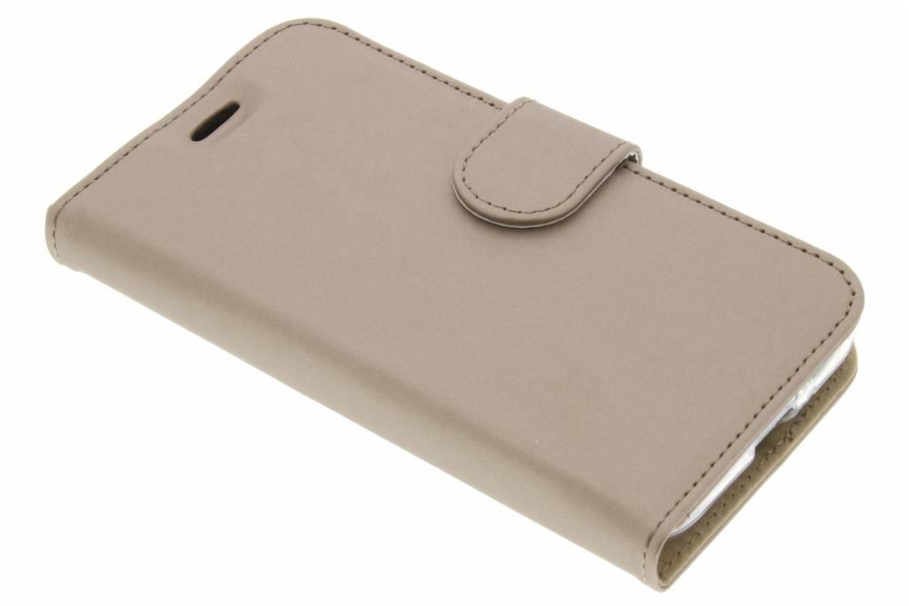 Accezz Wallet TPU Booklet voor de Samsung Galaxy J1 (2016) - Goud