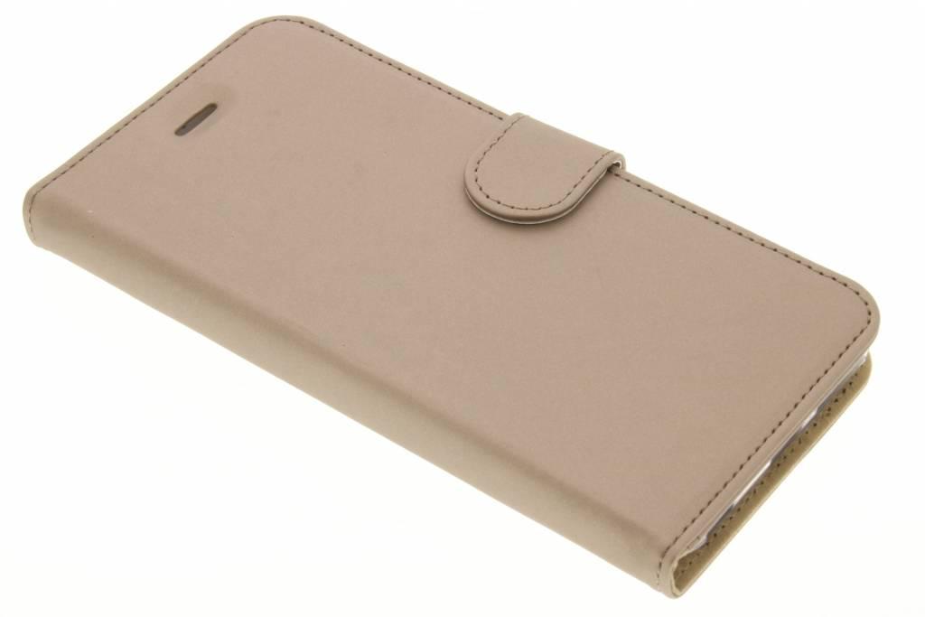 Wallet TPU Booklet voor de iPhone 6(s) Plus - Goud