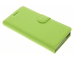 Groen zakelijke TPU booktype hoes Wiko Tommy