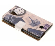 Design TPU booktype hoes Wiko Tommy