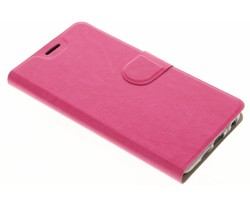 Fuchsia moderne TPU booktype hoes HTC One A9s