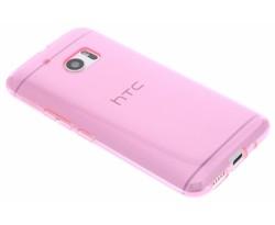 Roze transparant gel case HTC 10
