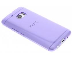 Paars transparant gel case HTC 10