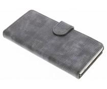 Grijs hagedis design booktype hoes Sony Xperia Z5