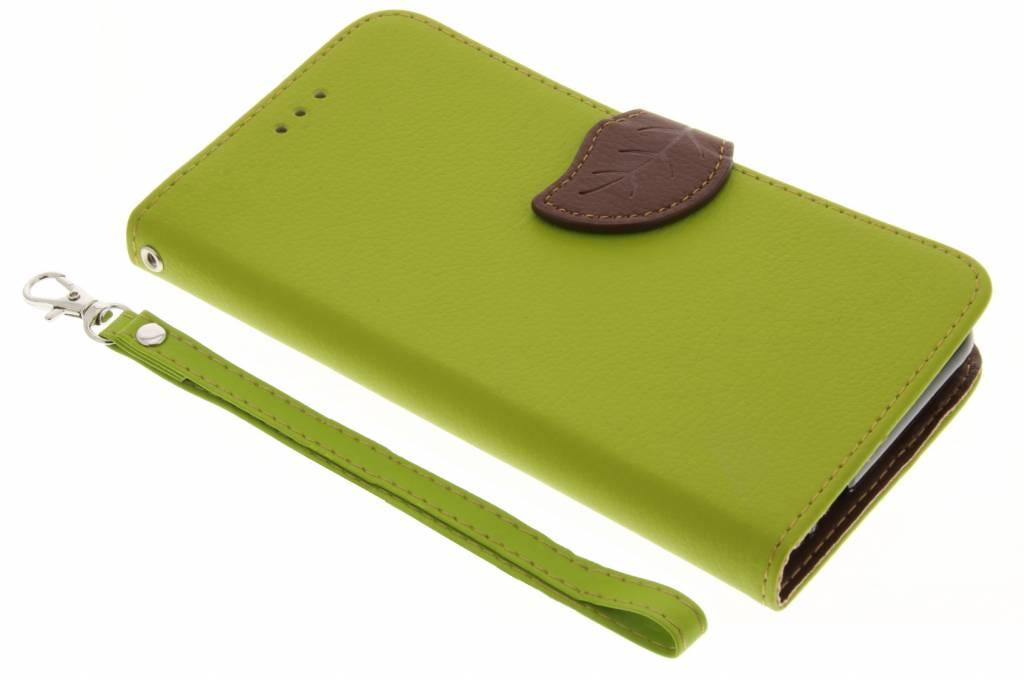 Groen blad design TPU booktype hoes voor de Xiaomi Redmi Note 3