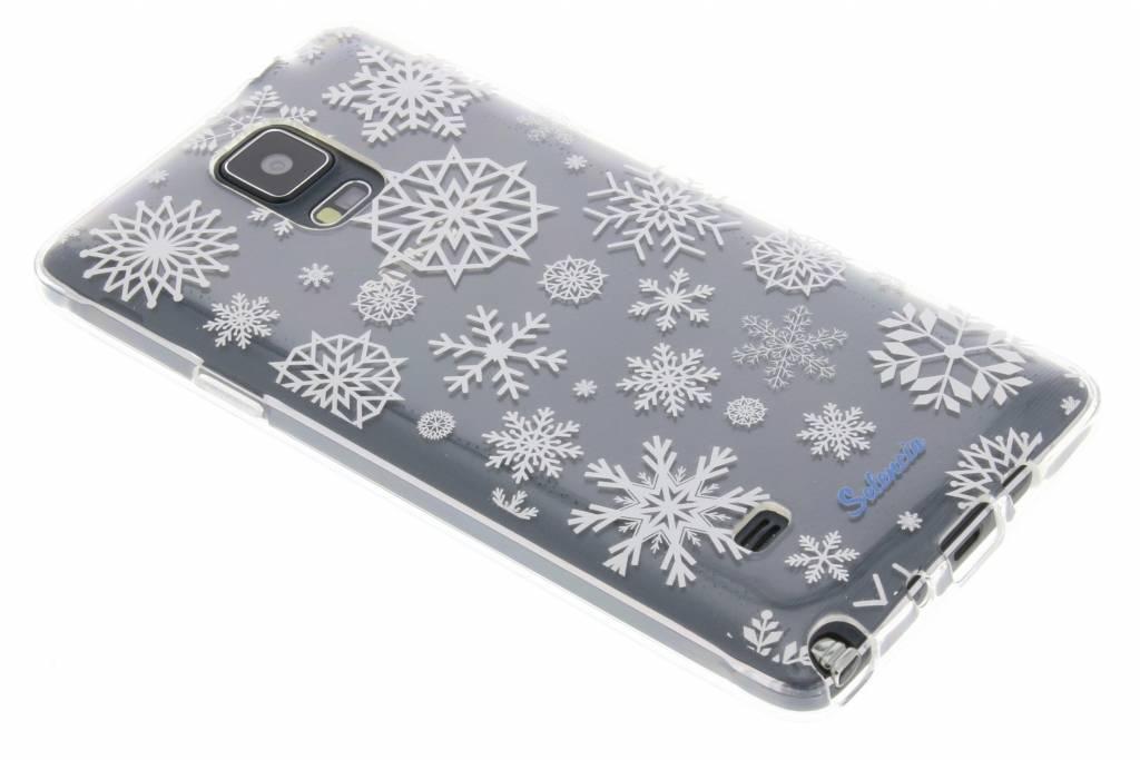 Winter Wonderland Sneeuwvlokken TPU hoesje voor de Samsung Galaxy Note 4