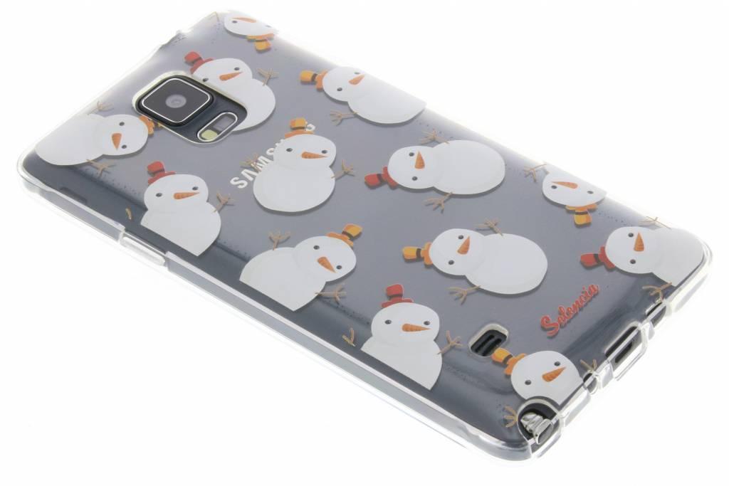 Winter Wonderland Sneeuwpopjes TPU hoesje voor de Samsung Galaxy Note 4