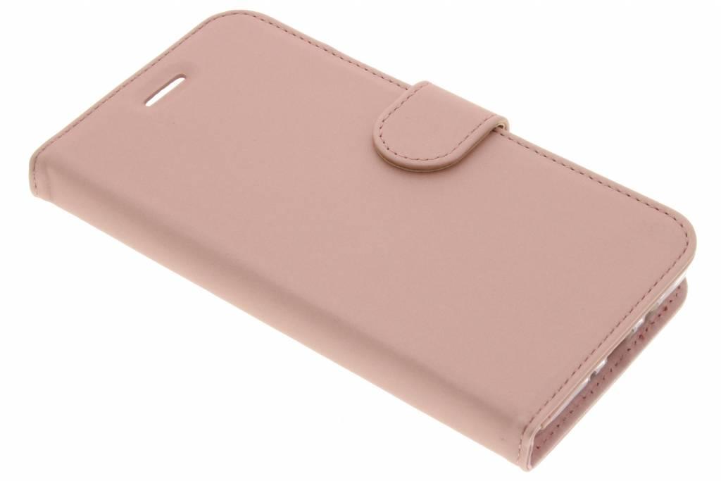 Accezz Wallet TPU Booklet voor de Samsung Galaxy J7 (2016) - Rose Gold