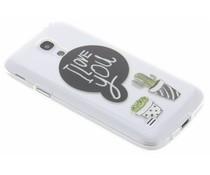 Quote design TPU hoesje Samsung Galaxy S4 Mini