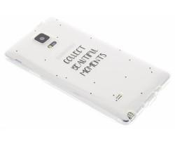 Quote design TPU hoesje Samsung Galaxy Note 4