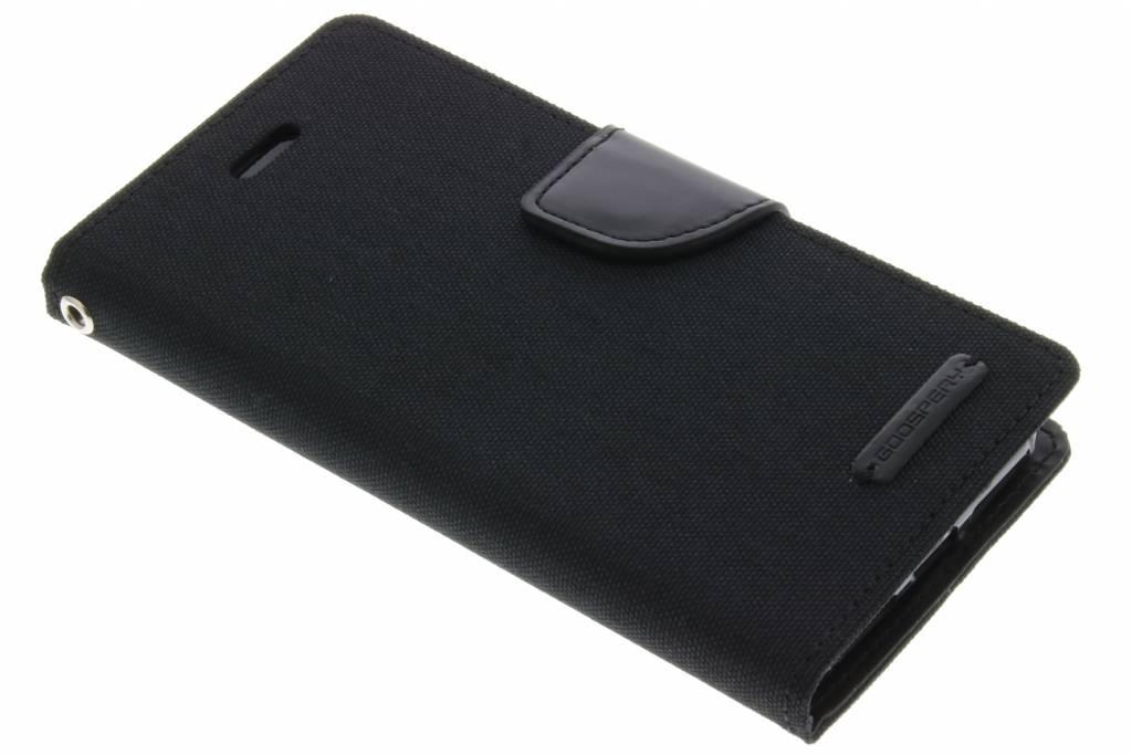 Mercury Goospery Canvas Diary Case voor de iPhone 8 / 7 - Zwart