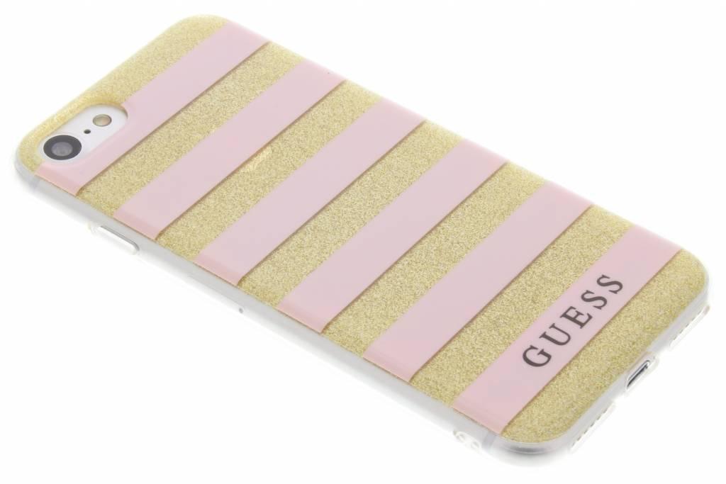 Guess Stripes Gel Case voor de iPhone 7 - Roze