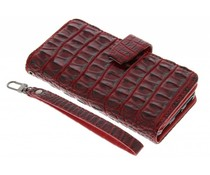 Rood Krokodil Wallet Case Huawei Y6