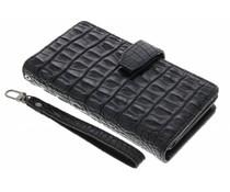 Zwart Krokodil Wallet Case Sony Xperia M5