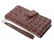 Bruin Krokodil Wallet Case Sony Xperia M5