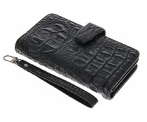 Zwart Krokodil Wallet Case iPhone 6 / 6s