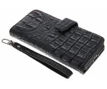 Zwart Krokodil Wallet Case iPhone 7 Plus