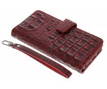 Rood Krokodil Wallet Case iPhone 7 Plus