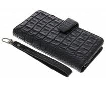 Zwart Krokodil Wallet Case Samsung Galaxy J7 (2016)