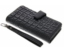 Zwart Krokodil Wallet Case Motorola Moto X Style