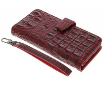 Rood Krokodil Wallet Case Motorola Moto X Style