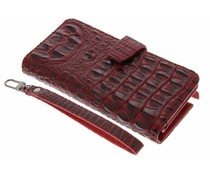 Rood Krokodil Wallet Case Samsung Galaxy Note 2
