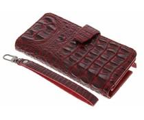 Rood Krokodil Wallet Case Samsung Galaxy Note 2