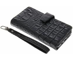 Zwart Krokodil Wallet Case Samsung Galaxy A7 (2016)