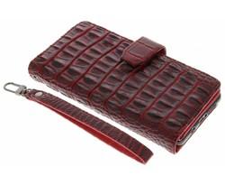 Rood Krokodil Wallet Case Samsung Galaxy A7 (2016)