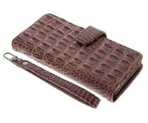 Bruin Krokodil Wallet Case Motorola Moto G4 (Plus)